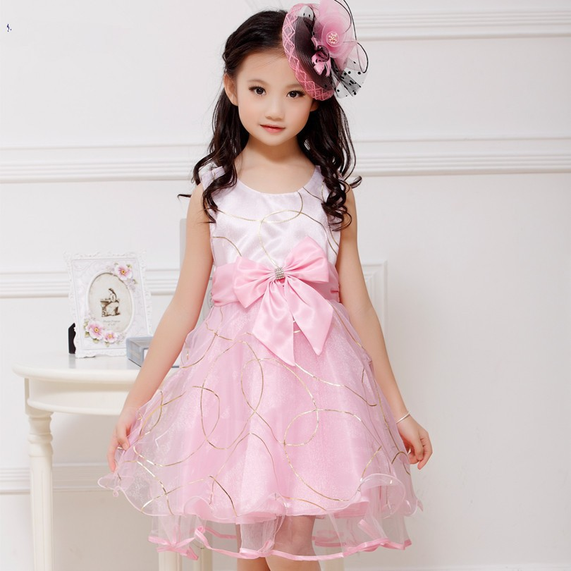New fashion summer baby dress lovely sweet princess dress for 4-10 years old kids