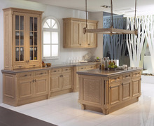 high quality Solid Wood china kitchen cabinet(KC-011)