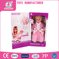 24 inch intelligent doll talking baby dolls with Russian language