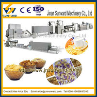 China automatic corn chips making machine, breakfast cereal machine, corn flake processing line