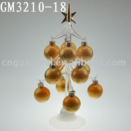 Beautiful glass christmas tree with glass balls