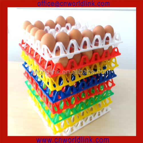 OEM 30 Holes 100% Virgin HDPE Stackable and Nestable Plastic Stackable Egg Tray