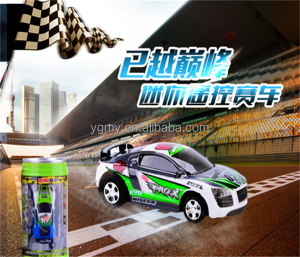 Mini Remote Control Car Racing Coke Can RC Car Door Baby Toy Electric Radio Controlled Toys Kit With Light