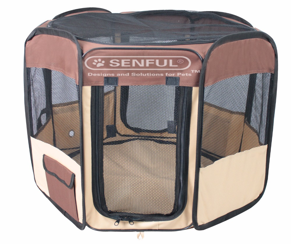 Portable 8-panel Fabric Pet Playpen Folding Puppy Playpen