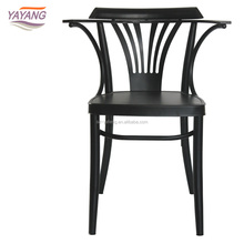 Modern design leisure used french restaurant metal iron cafe chair