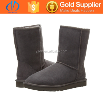 rubber sole latest design furry snow boot