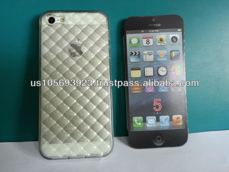 TPU Grid design phone case for iphone 5