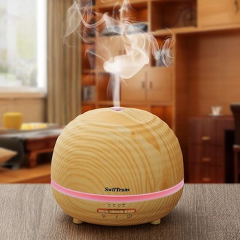 USA STOCK Essential Oil Diffuser, 300ml Aroma diffuser Wood Grain Ultrasonic Cool Mist Humidifier