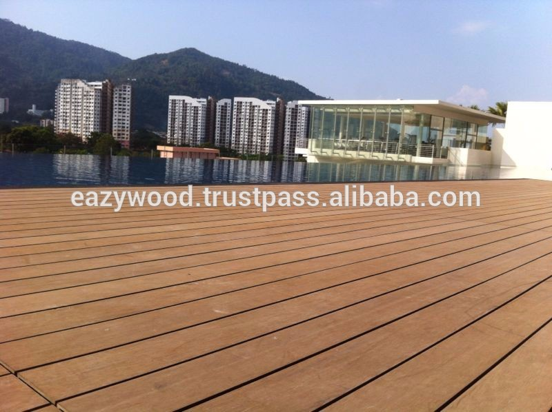 Timber Decking For Swimming Pool