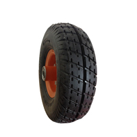 "Absolutely Strong 10"" x 3.50-4 rubber wheels for trolley"