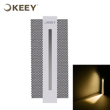 KEEY 3W Led Recessed Wall Step Light Rectangle Shape With Embedded Box Caring Your Steps Non-waterproof QYS2-L3143
