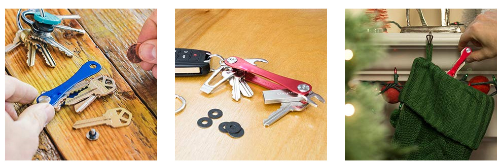 Classic Compact Key Holder and Keychain Organizer black