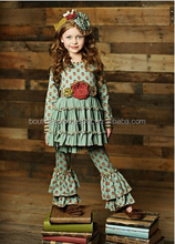 High quality cheap kids children clothing set back to school girl outfit frock design baby girl boutique clothing sets