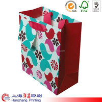 Customize top quality decorative handmade paper gift bags in shanghai