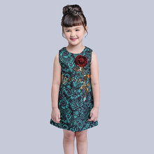 Wholesale Boutique Unique Pretty Flower Designs Formal Clothing Kids Party Dresses