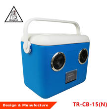 Eco-friendly 15L Electric Cooler Box with bluetooth speaker music ice chest