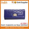 European style latest diamond unique purses cheap woman wallet with snap closure
