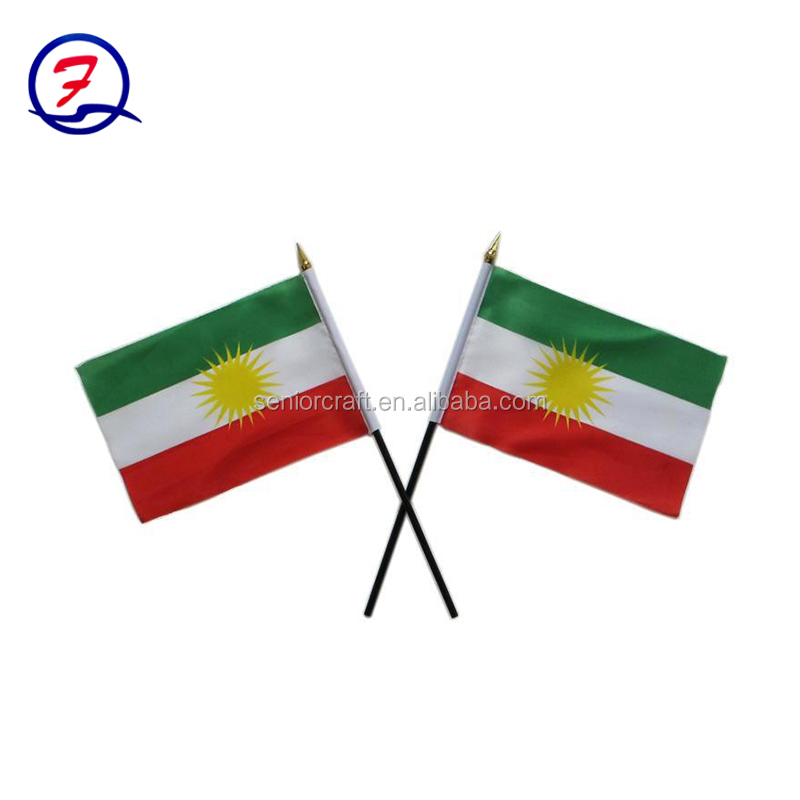 Polyester Customized Hand Flag hand flag pole
