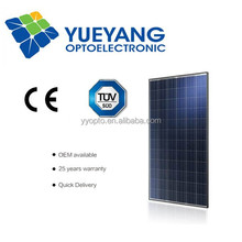 YYOPTO poly 72 piece solar panel 156*156 triple junction solar cell