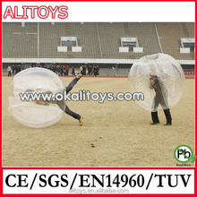 inflatable transparent bumper ball for football game