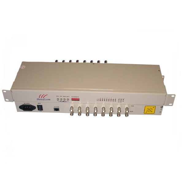High technical Product BNC to RJ45 <strong>10</strong>/100Mbps LAN-WAN 8E1 to Ethernet Converter