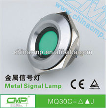 30mm CMP anti-vandal waterproof stainless steel IP67 led indicator light 120v(passed SGS,CE,TUV,RoHS)