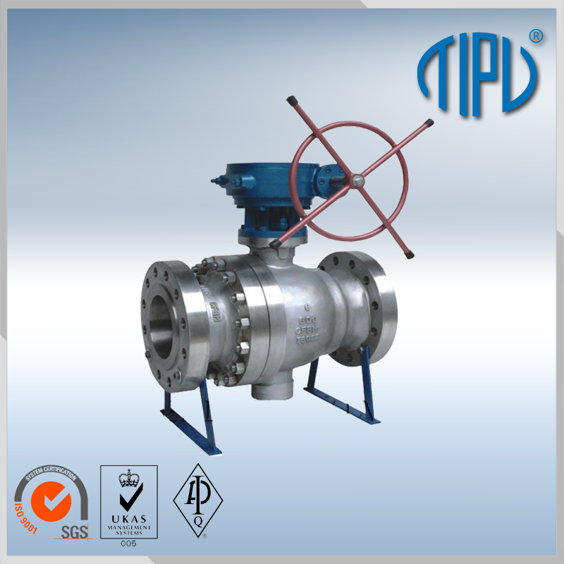 Medium pressure Worm Gear motorized ball valve for gas