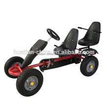 Comfortable two seat manual assemble adult pedal go kart for sale