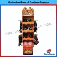 China supplier cheap wooden scarf and hat display rack