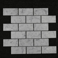 "Grade of 2""x4"" brick Honed White Carrara marble mosaic tile price"