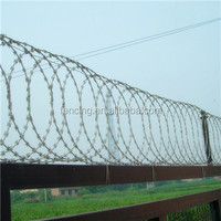 Galvanized High Quality Crossed Spiral Razor Barbed Wire / Razor Barbed Wire (facntory)