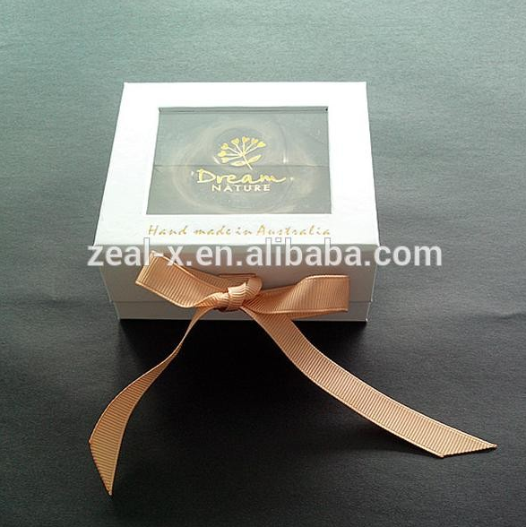 Luxury top qiality Alibaba china make paper jewelry boxes with ribbon