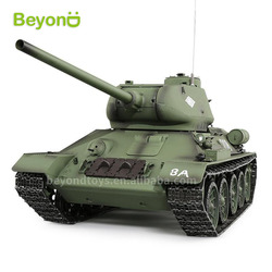 Heng Long 2.4Ghz Radio Control 1/16 Russian T-34 RC Battle Tank with Smoke & Sound