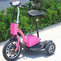 pink adult three wheel electric motorcycle with one seat