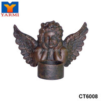 CHURCH ANGEL WIGN CAST IRON CANDLE HOLDER