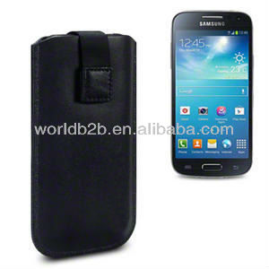 New Arrival Sync Leather Pouch Bag Case for Samsung Galaxy S4 Mini i9190