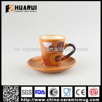 Liling Matt glazed ceramic cup and saucer with new design