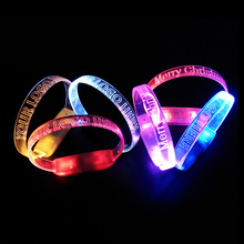 Custom light up party sound activated wristband flashing led bracelets party favors china