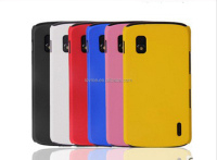 Colorful Fashion Hard Matte Back Case For LG Nexus 4 E960