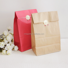 New Arrived Elegant Brown Kraft Reusable Grocery Storage Paper Bag Without Handle For Food