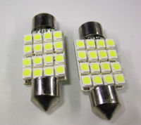 41mm 16SMD 1210 LED Canbus Festoon Dome Light Lamp Bulb DC 12V Warm White