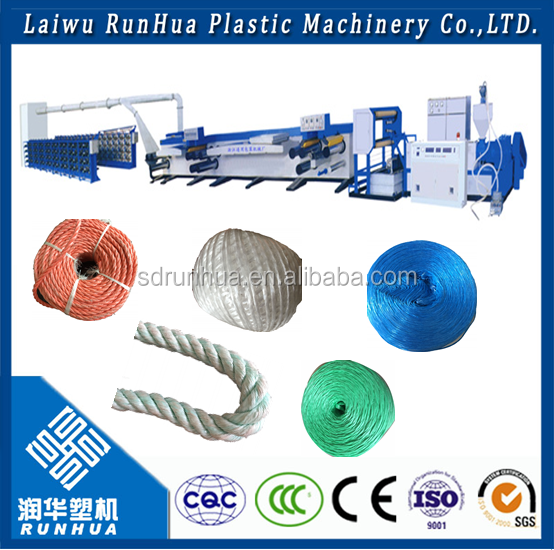 single screw extruder nylon thread plastic flat wire drawing machine