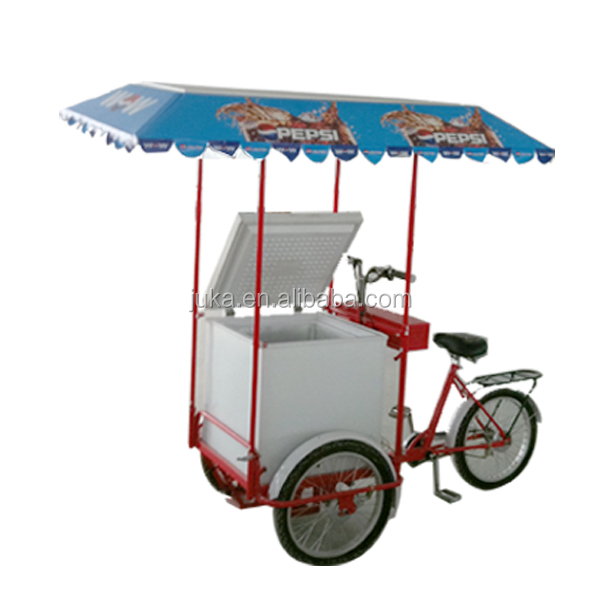 2015 newest style solar Ice cream freezer mini portable Ice cream tricycle freezer storage box