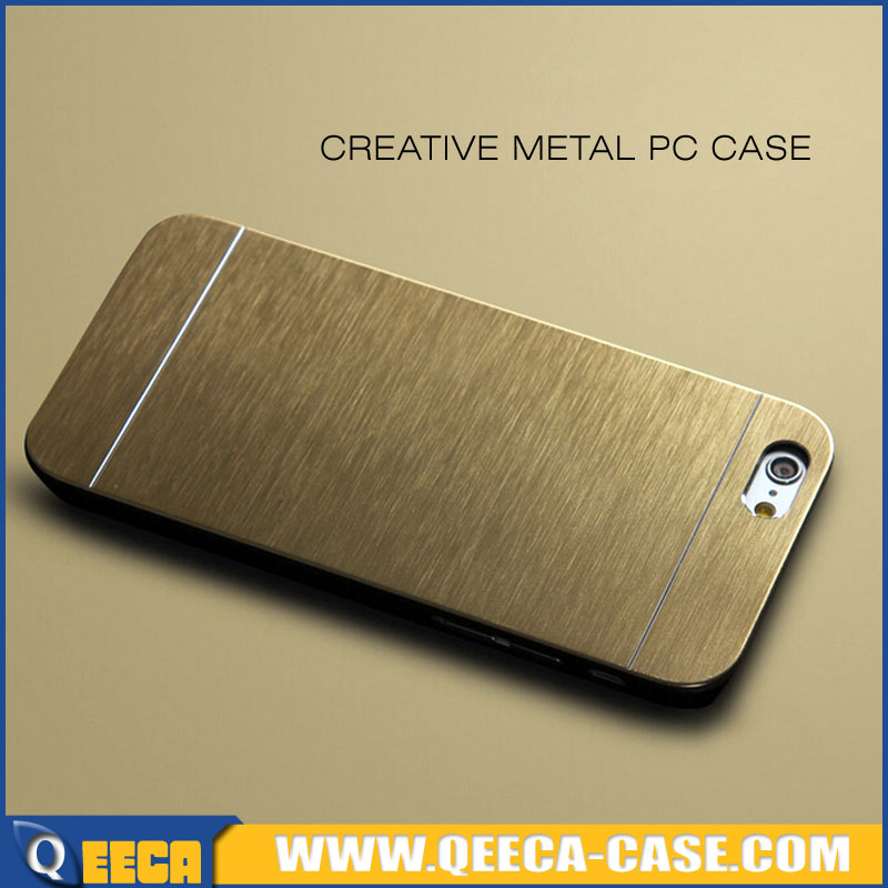 Luxury&premium protective aluminum brushed metal hard case for iphone 6