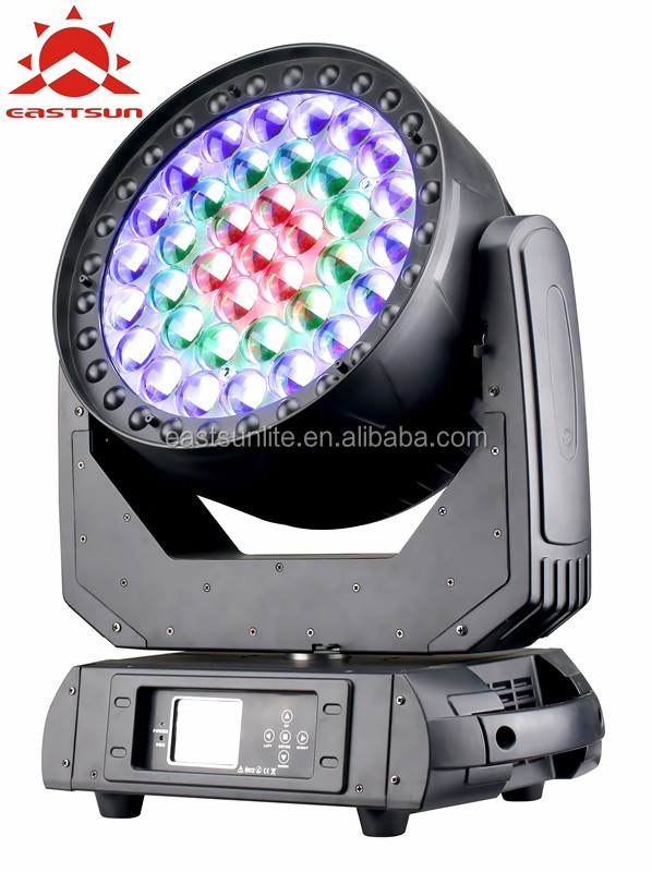 Professional 37*15w RGBW Zoom Rotation moving head light