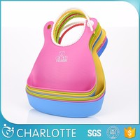 Newest Design Top Quality Washable Silicone Baby Bibs