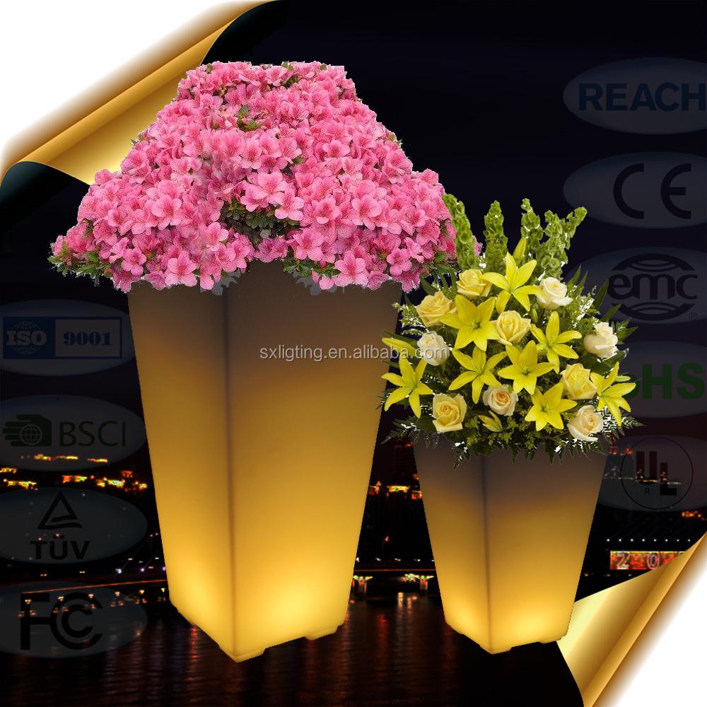 Wholesale light up flower vase online buy best light up flower 2018 new design led strongflowerstrong pot led garden reviewsmspy
