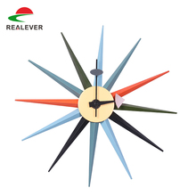 2017supplier Cheap sun shaped wall clock China