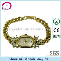 2015 new quartz golden ladies watches simple surface with diamond wrist watch