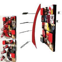 Wooden wall display rack OEM for Puma shoe